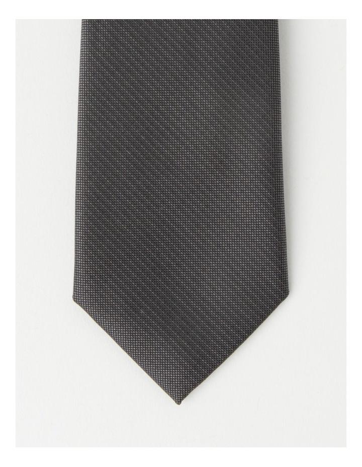 Plain Charcoal Tie image 2