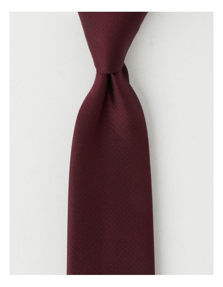 Plain Burgandy Tie image 1
