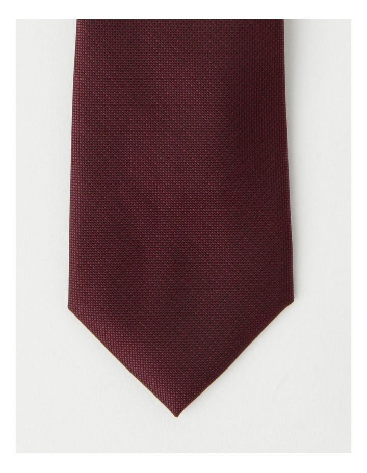 Plain Burgandy Tie image 2