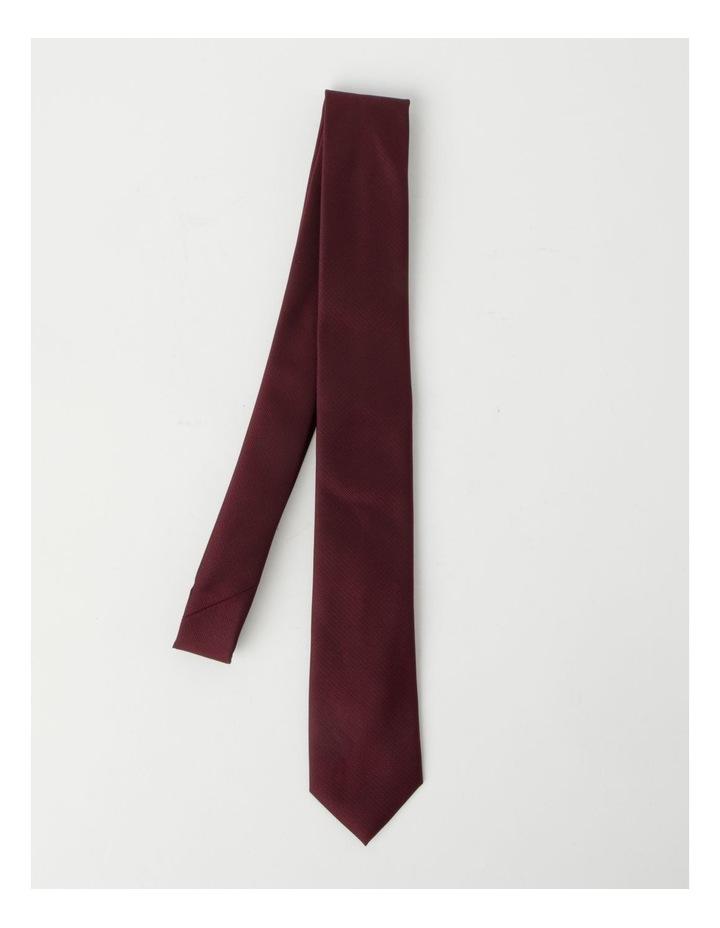 Plain Burgandy Tie image 3