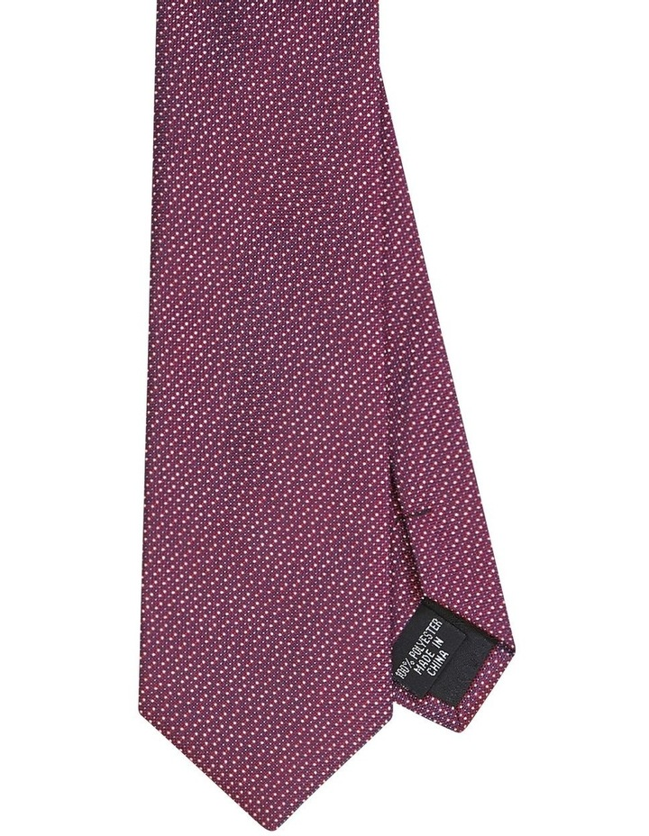 Dot Poly Tie Maroon image 1
