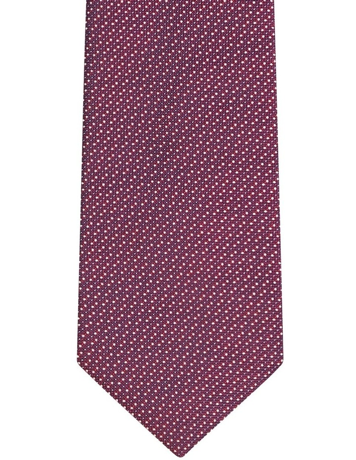 Dot Poly Tie Maroon image 2