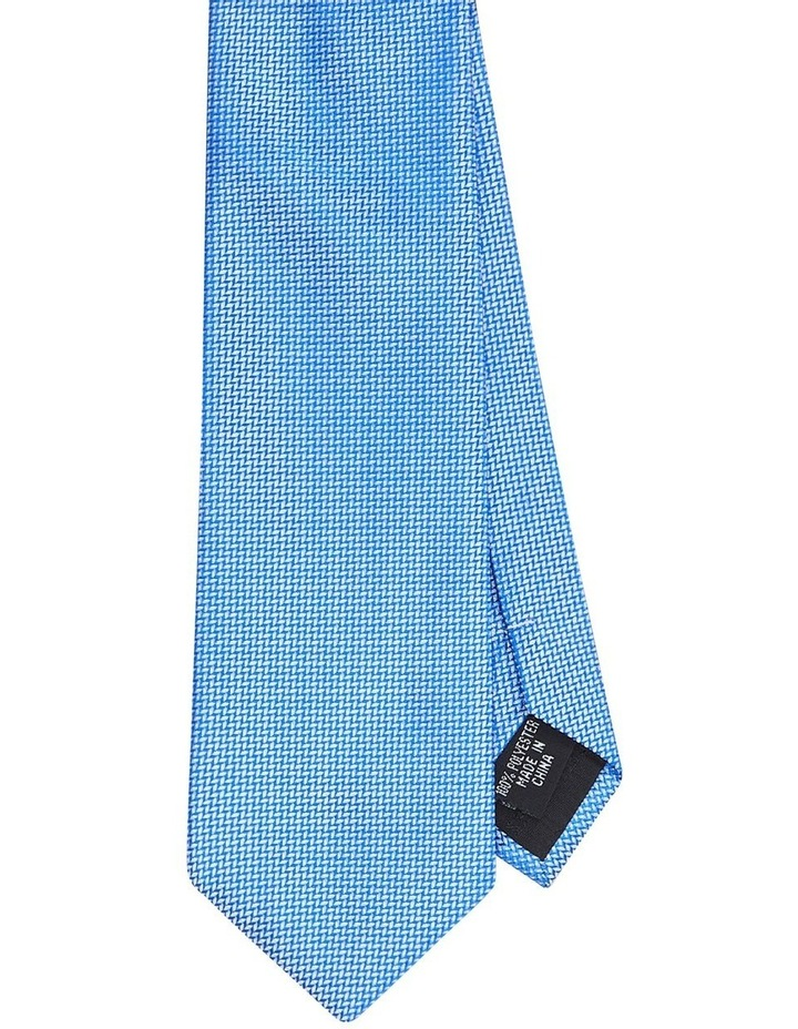 Textured Poly Tie Blue image 1