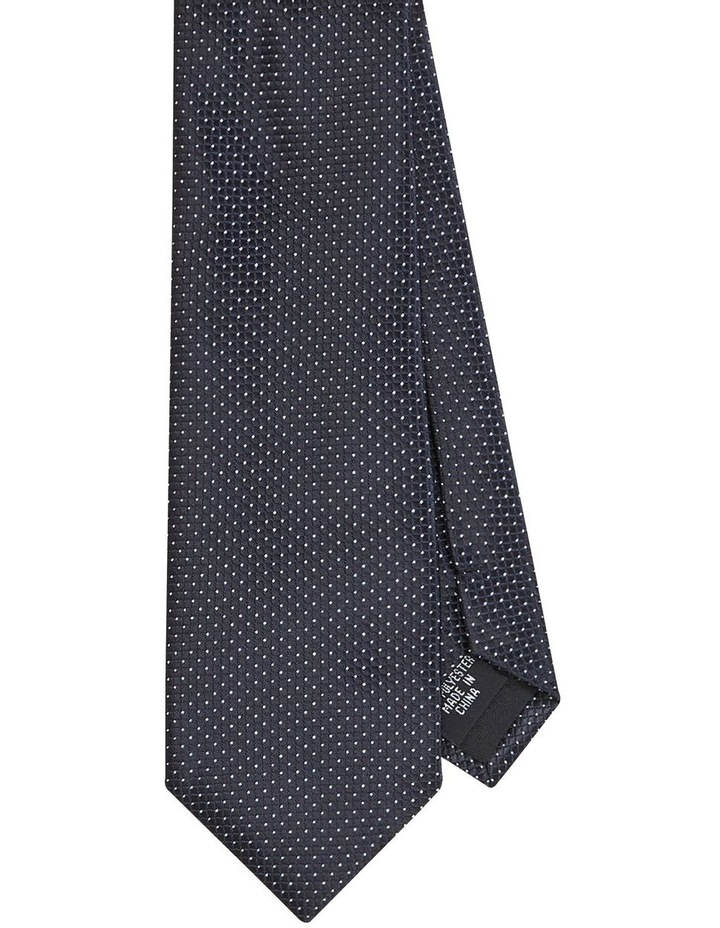 Pin Dot Poly Tie Black image 1