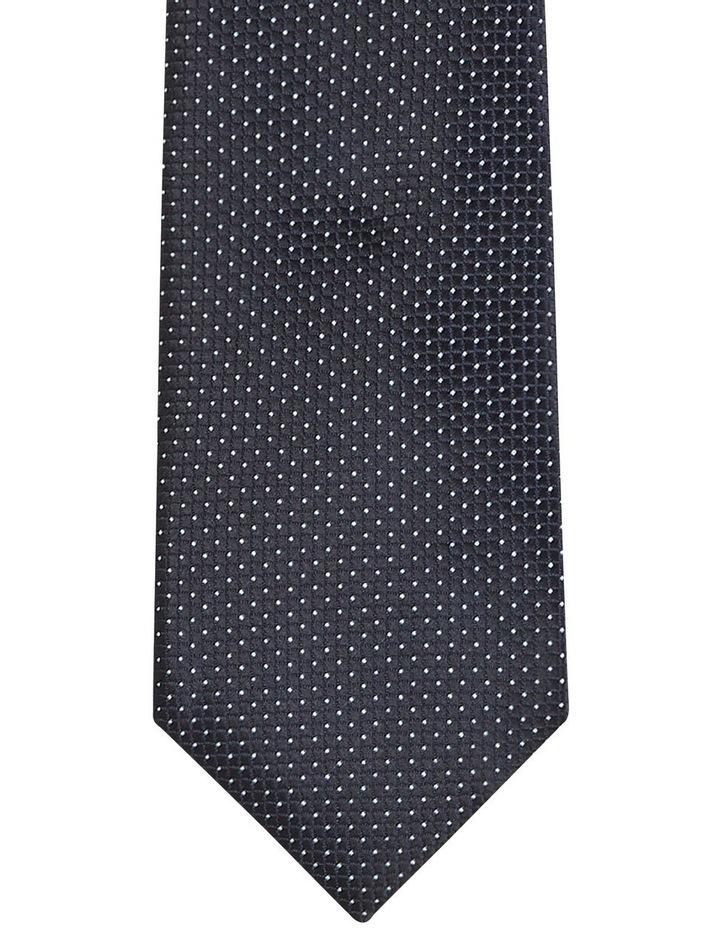 Pin Dot Poly Tie Black image 2