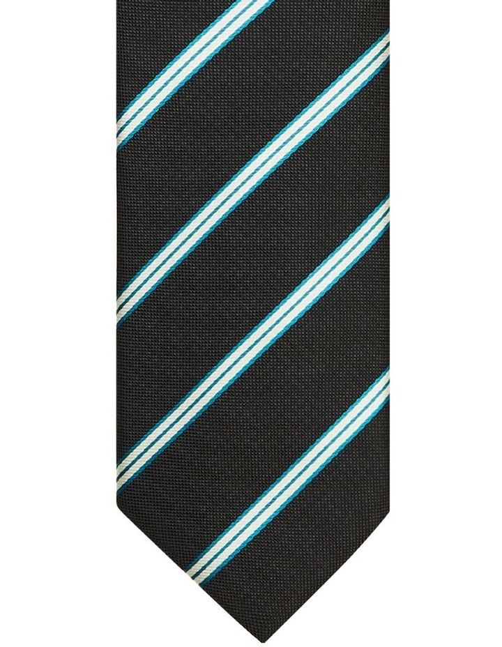 Stripe Poly Black Tie image 2