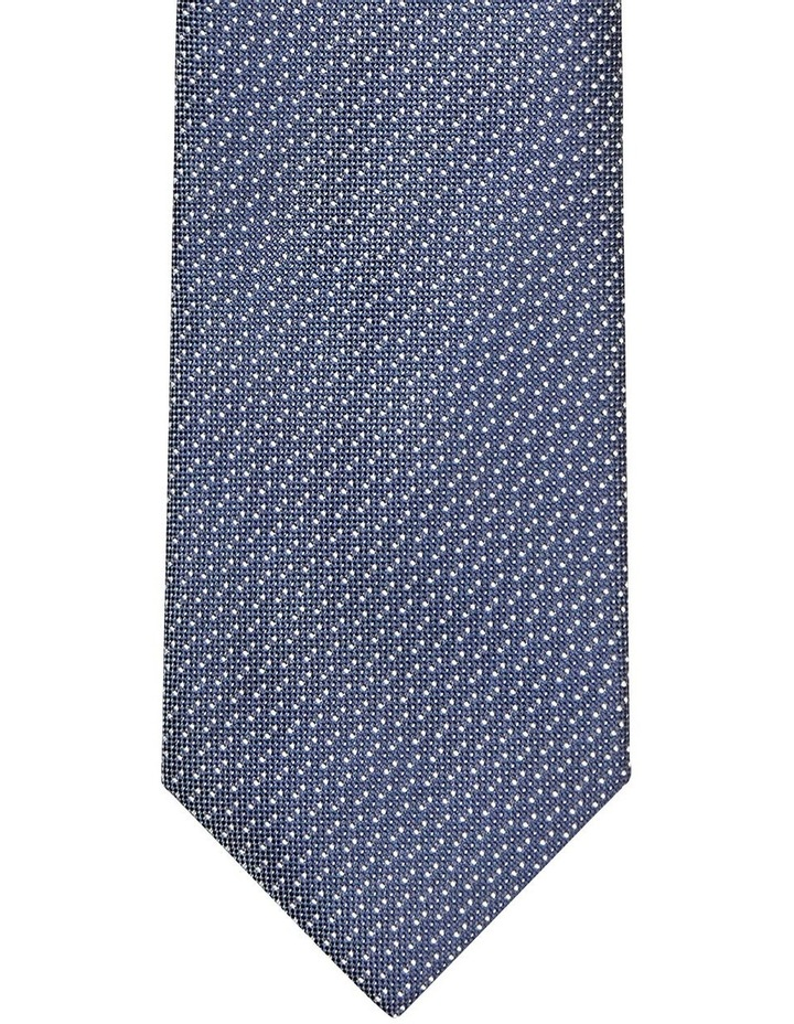Textured Poly Tie Navy image 2