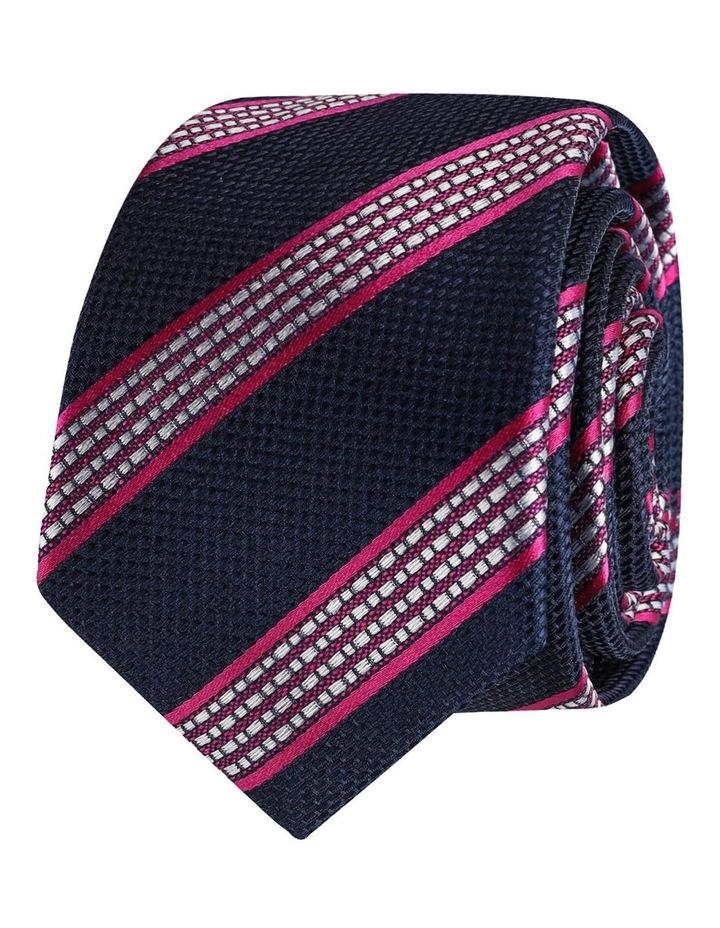 Stripe Silk Face Tie image 1