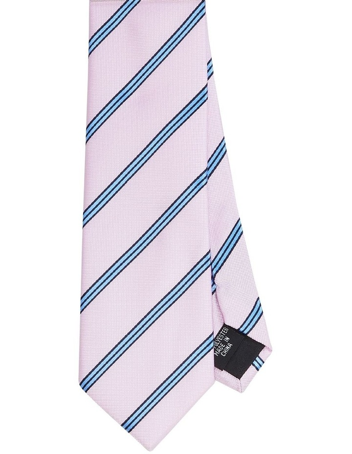 Twin Stripe Poly Tie Pink image 1