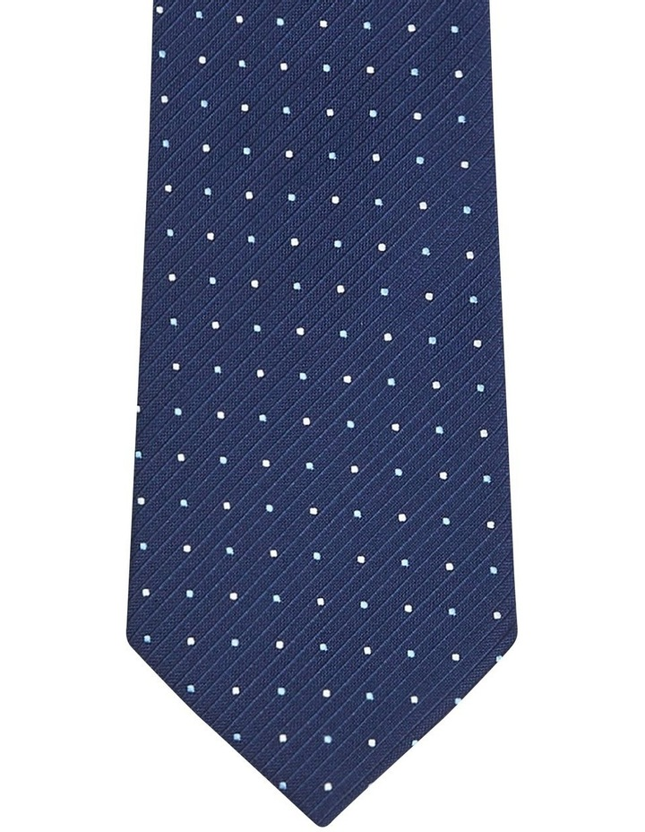 Spotted Poly Tie Navy image 2