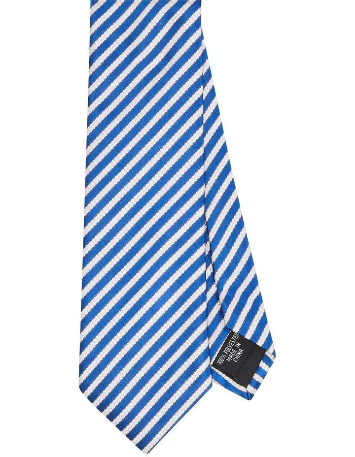 Stripe Poly Tie Navy image 1