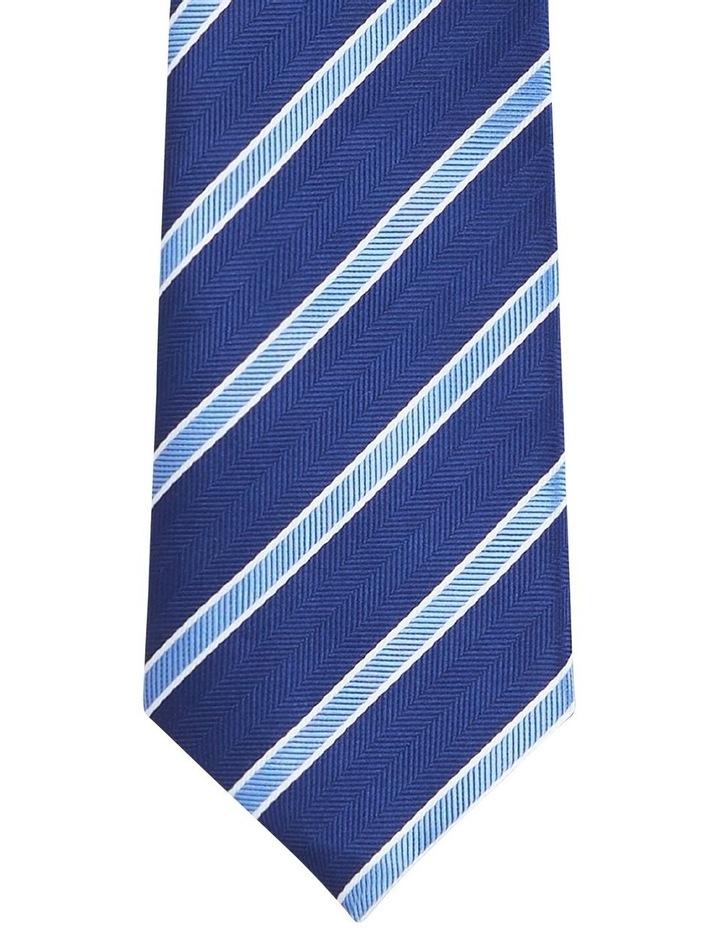 Stripe Poly Tie Navy image 2