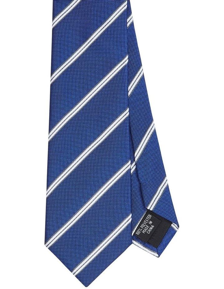Twin Stripe Poly Tie Blue image 1