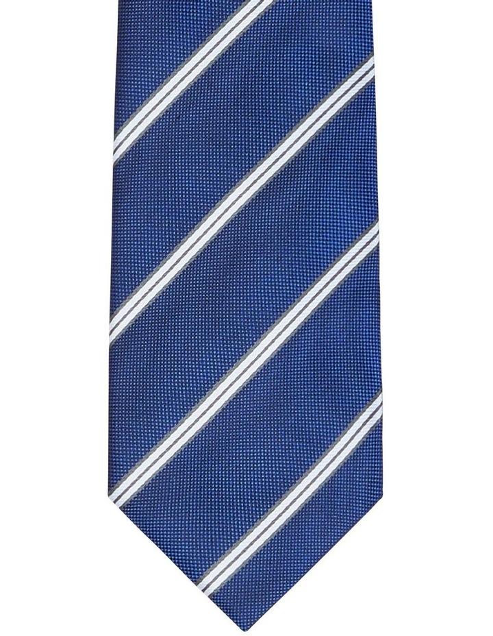Twin Stripe Poly Tie Blue image 2