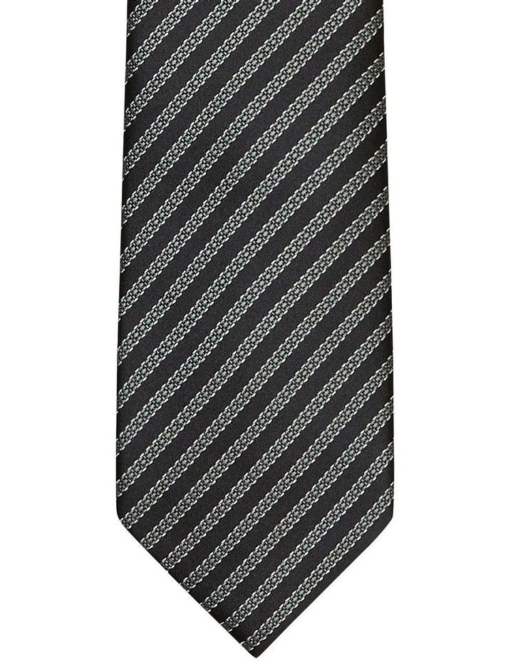 Chain Stripe Poly Tie Black image 2
