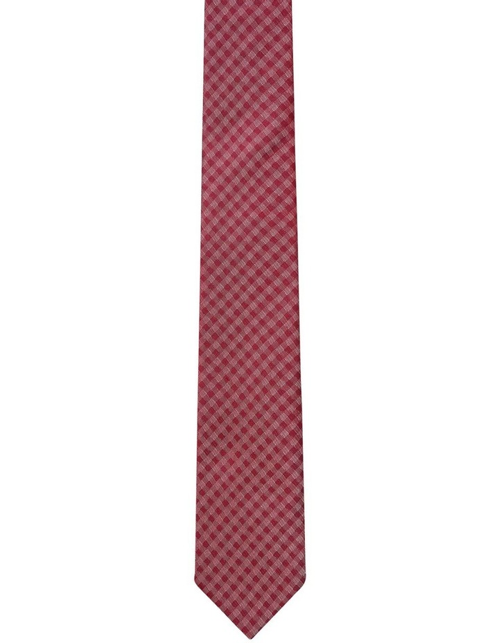 Self Check Silk Tie Red image 1