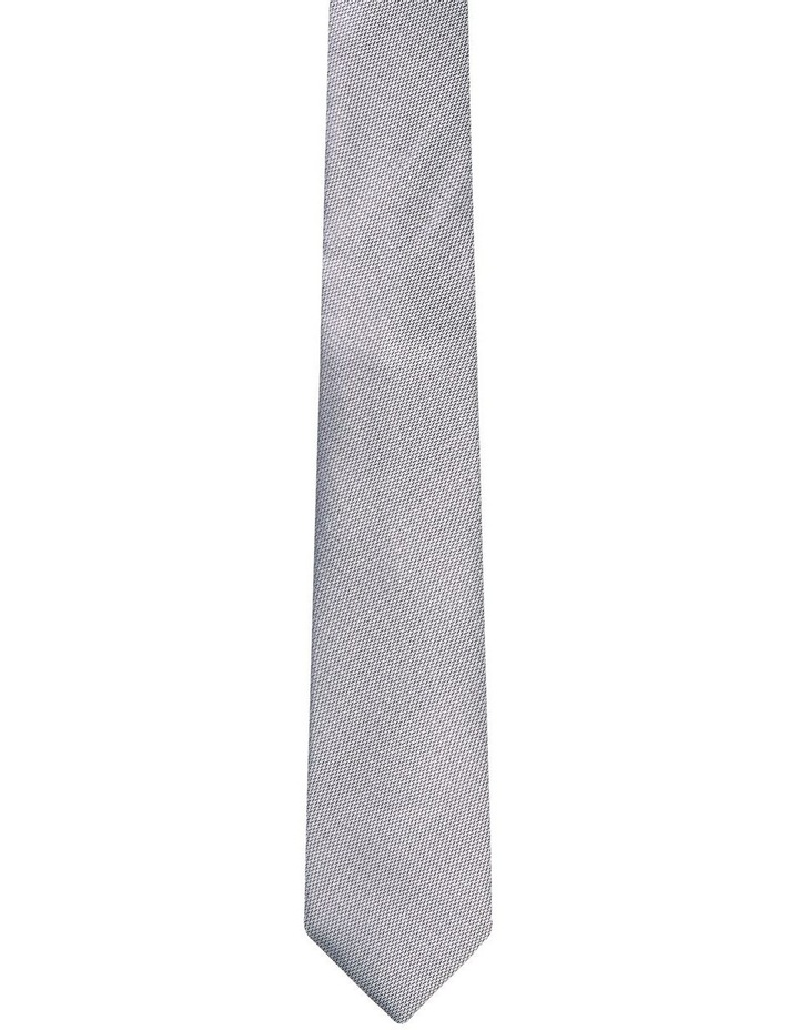 Textured Silk Tie Ecru image 1