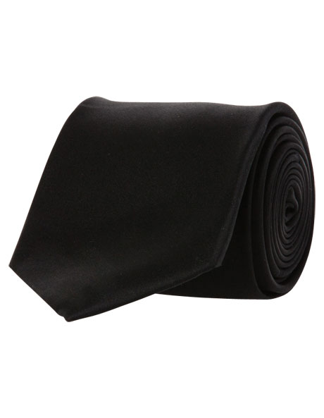 Black Silk Tie image 1