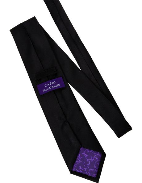 Black Silk Tie image 2
