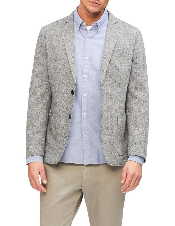 Grey Slub Blazer image 1