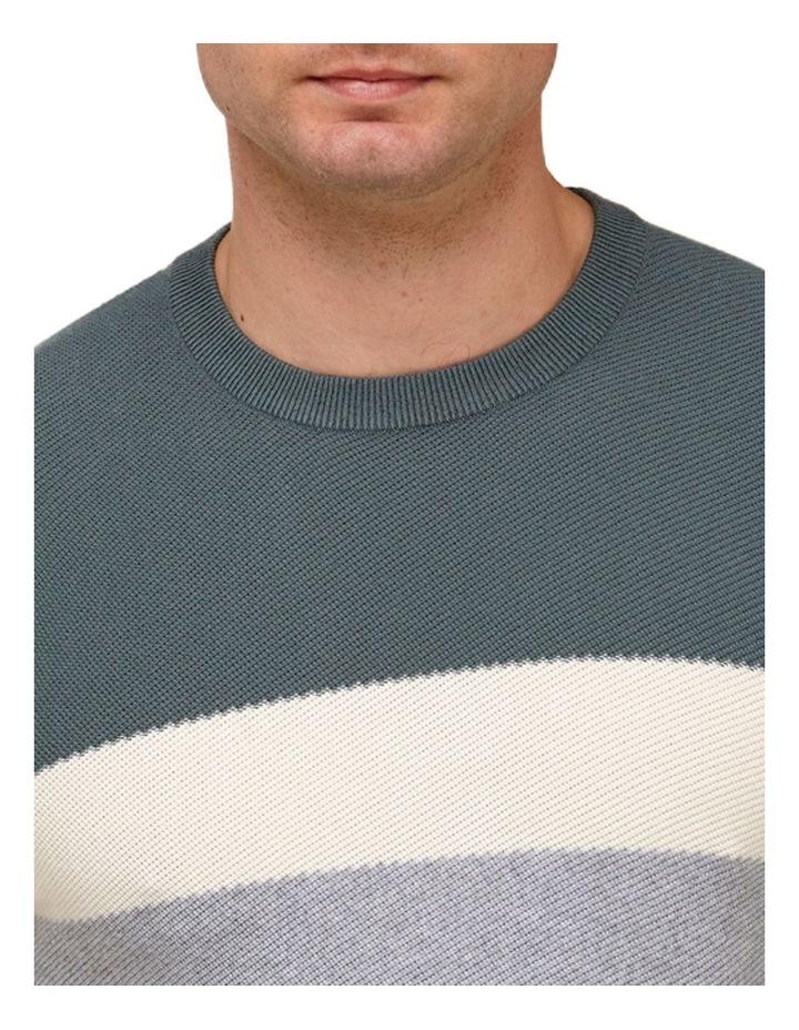 Color Block Knit T-Shirt  Grey image 2