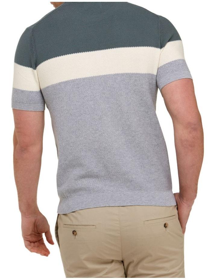 Color Block Knit T-Shirt  Grey image 3