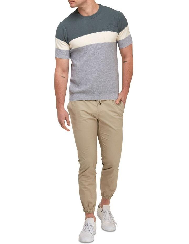 Color Block Knit T-Shirt  Grey image 4