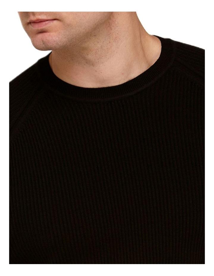 Raglan Sleeve Knit T-Shirt  Black image 2