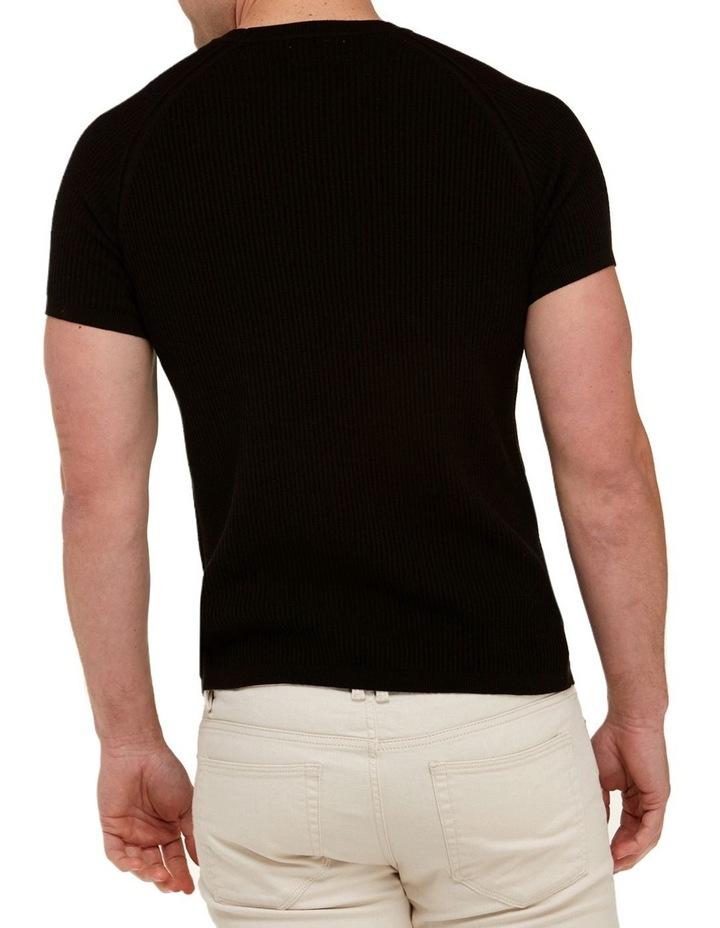 Raglan Sleeve Knit T-Shirt  Black image 3