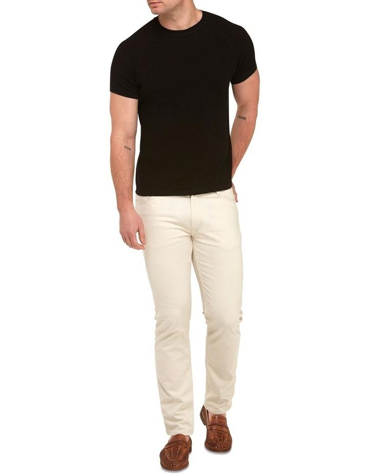 Raglan Sleeve Knit T-Shirt  Black image 4