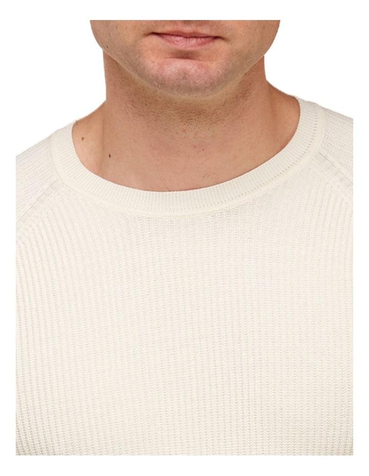 Raglan Sleeve Knit T-Shirt  Off White image 2