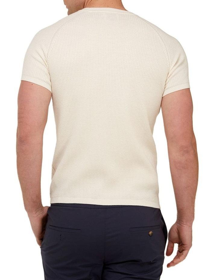 Raglan Sleeve Knit T-Shirt  Off White image 3