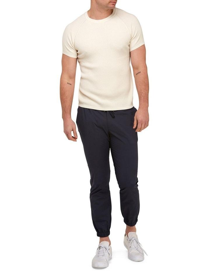 Raglan Sleeve Knit T-Shirt  Off White image 4