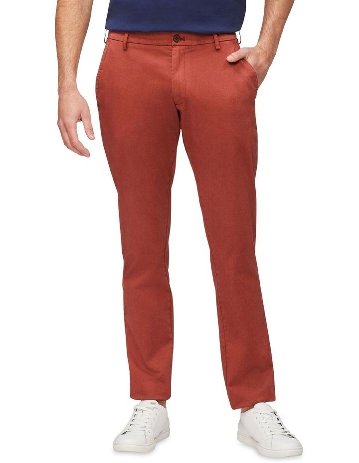 Regular Sateen Chino Pant Rust image 1