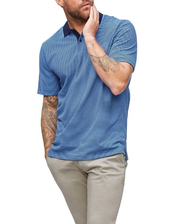 Contrasting Collar Stripe Polo image 1