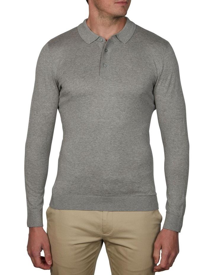 Plain Long Sleeve Knit Polo image 1