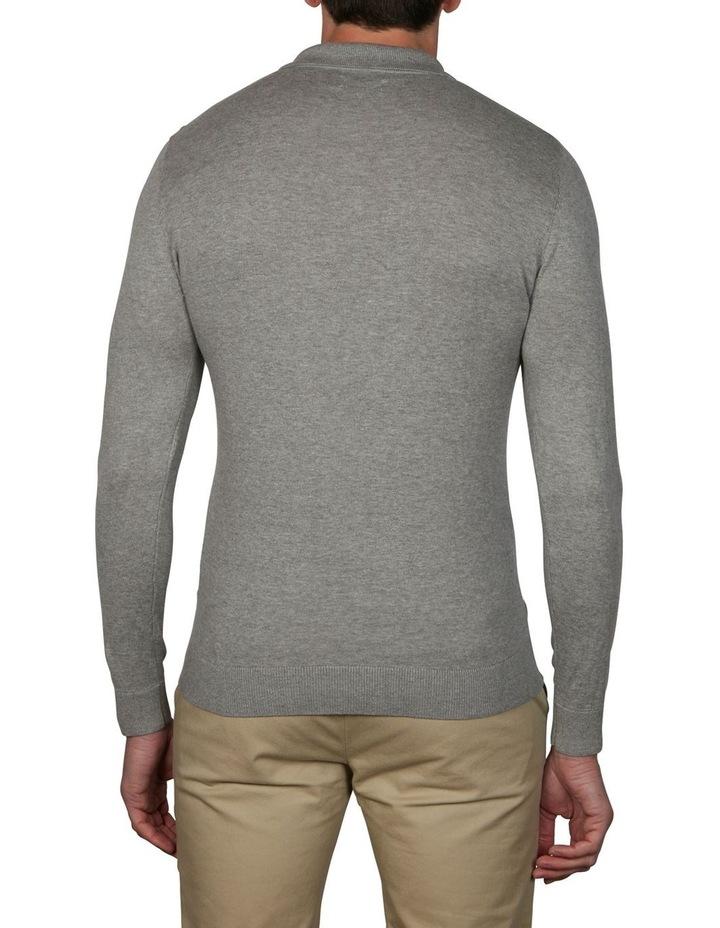 Plain Long Sleeve Knit Polo image 2