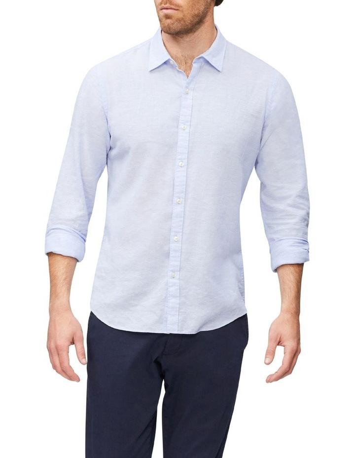 Linen Casual Shirt Blue image 1
