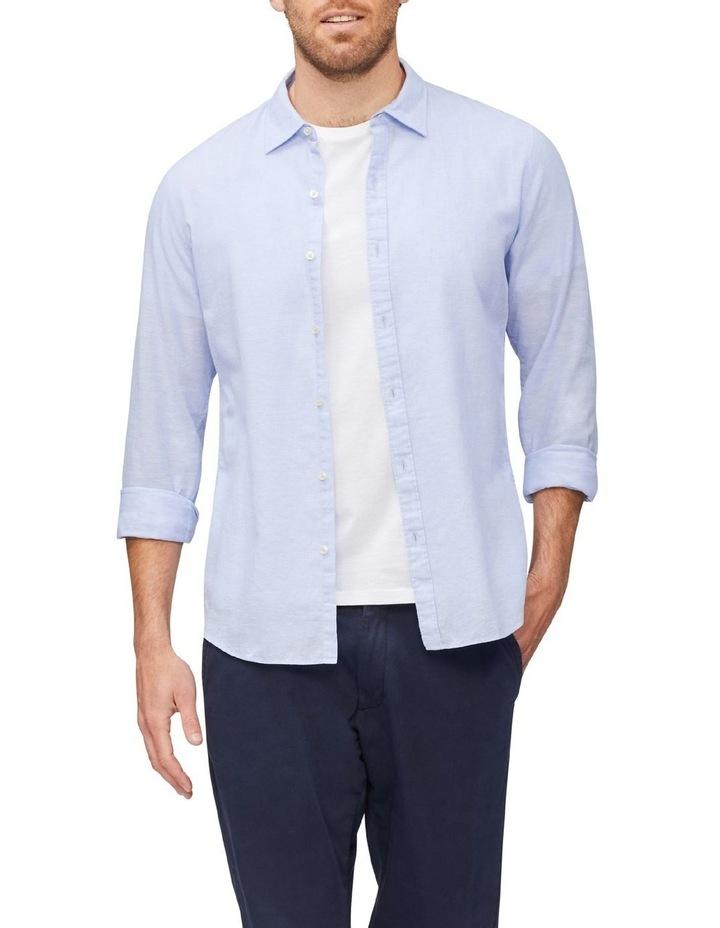 Linen Casual Shirt Blue image 2