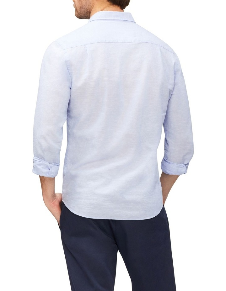 Linen Casual Shirt Blue image 3