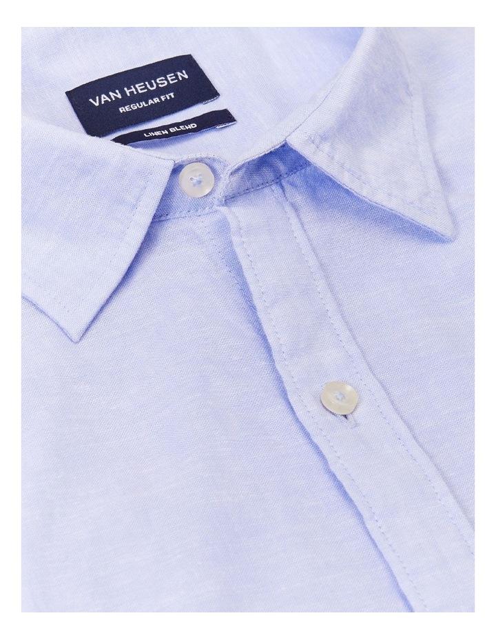 Linen Casual Shirt Blue image 4