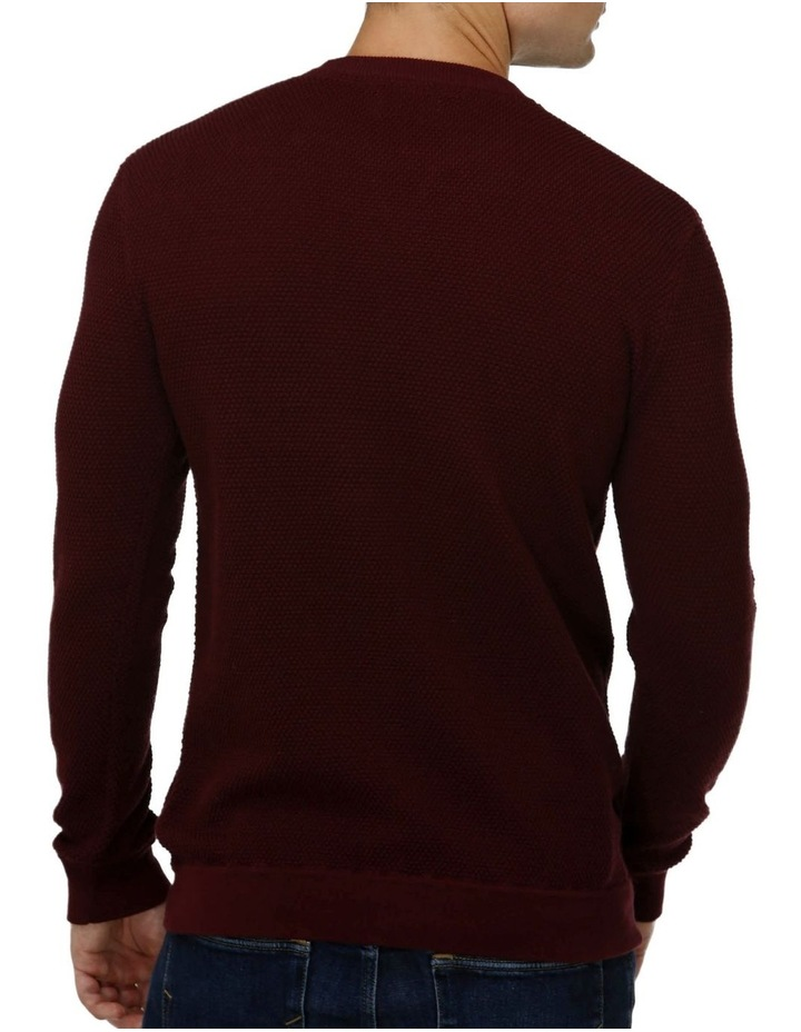 'V' Panel Crew Neck Sweater image 3