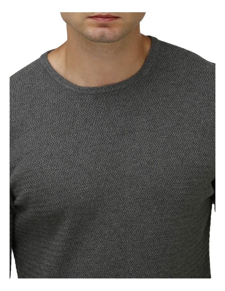 Textured Core Crew Neck Sweater image 4
