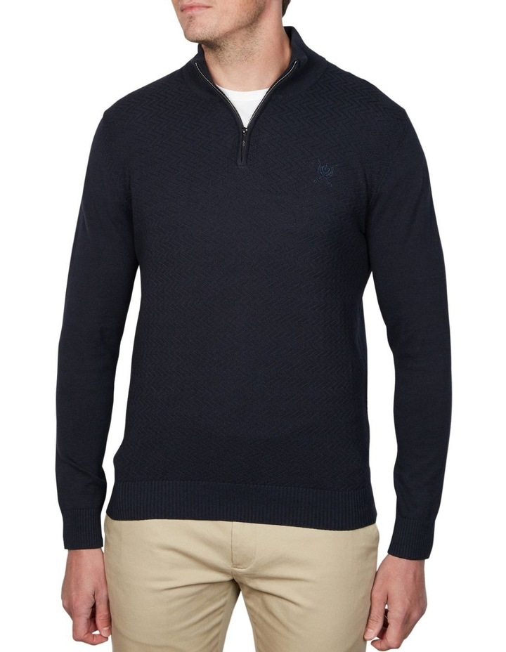1/4 Zip Textured Knitwear image 1