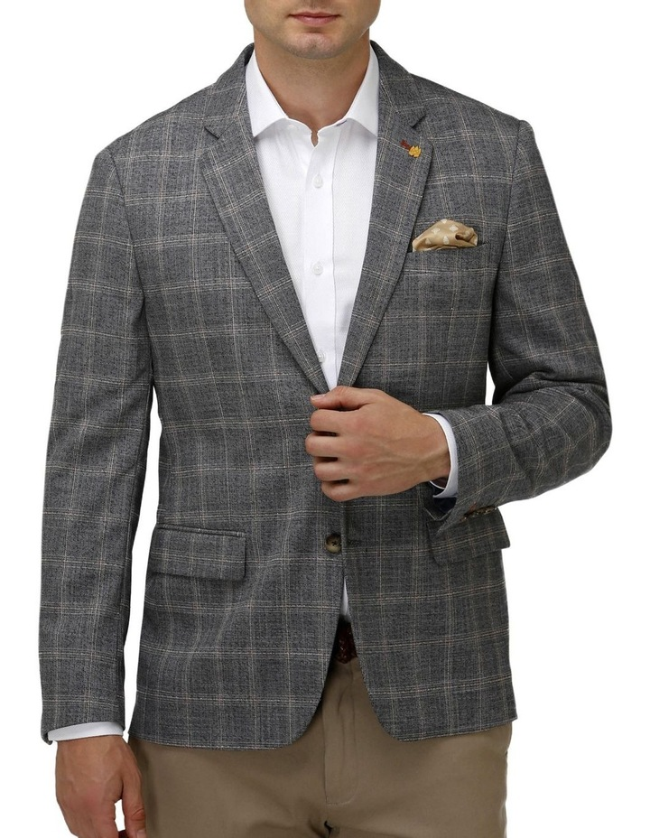 Stretch Textured Window Pane Blazer image 1