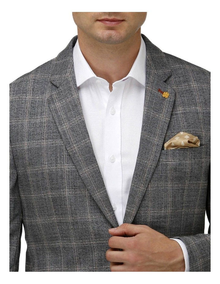 Stretch Textured Window Pane Blazer image 4