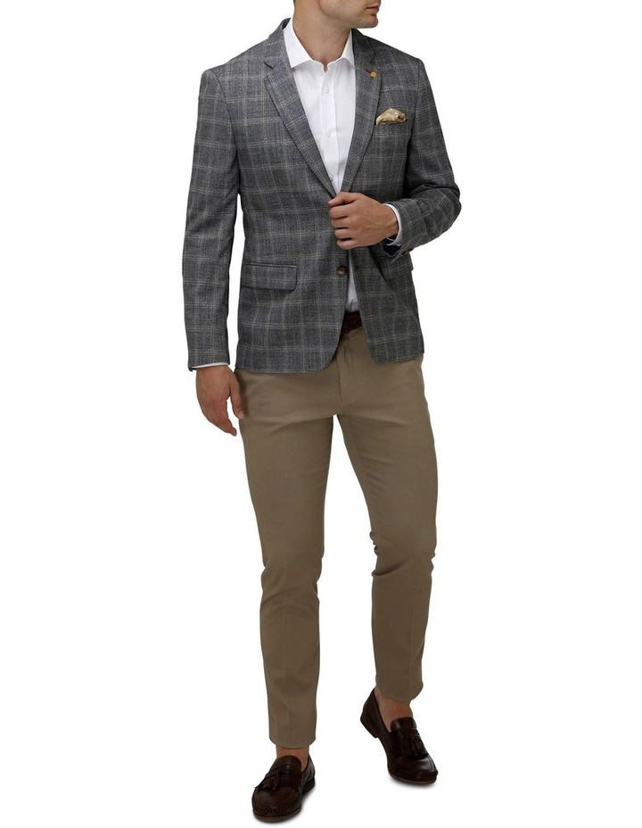 Stretch Textured Window Pane Blazer image 5