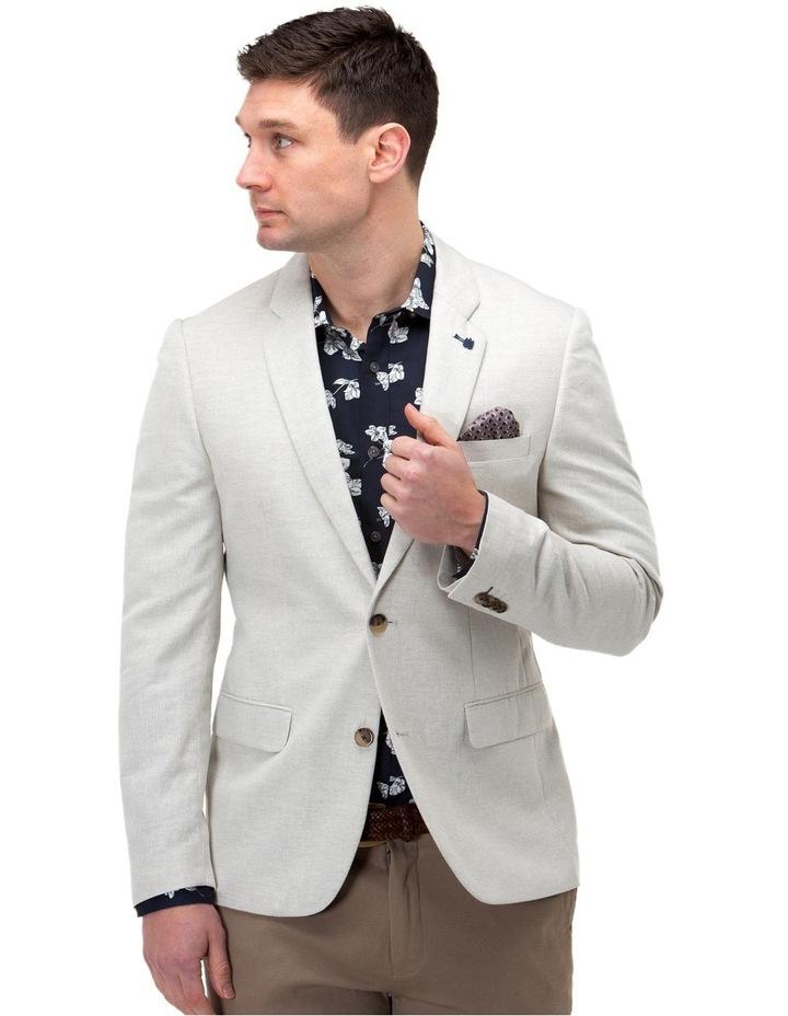 Linen Blend Textured Blazer image 1