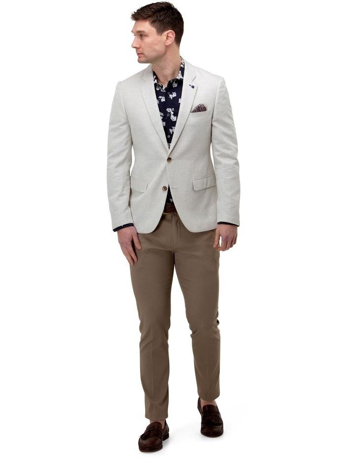 Linen Blend Textured Blazer image 2