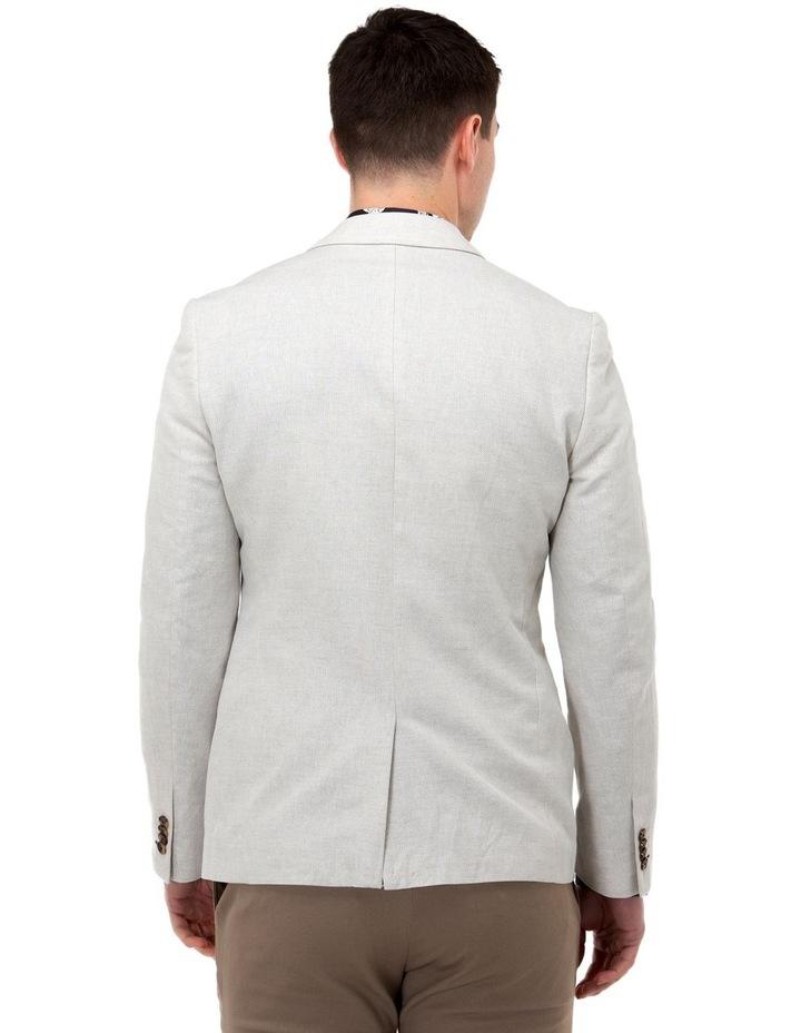 Linen Blend Textured Blazer image 3